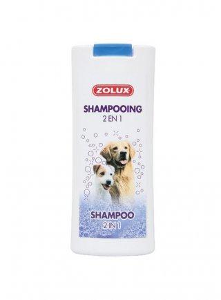 Zolux shampoo per cani 2 in 1 dona voluminosità e brillantezza al manto 250 ml