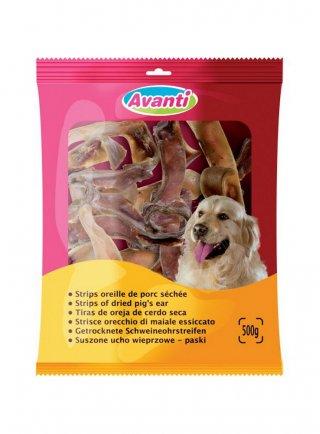 Zolux strisce di orecchie di maiale essiccato per cani Avanti 500GR