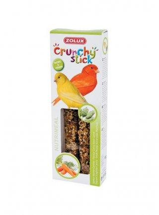 Snack per canarini con scagliola e carota Crunchy Stick Zolux - 85gr 2pz
