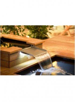 Kit cascata con luce led per vasca rettangolare cm 30