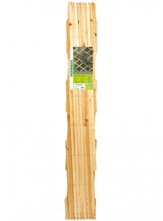 Traliccio estensibile in legno di pino leggero m 2,0x1,0 naturale