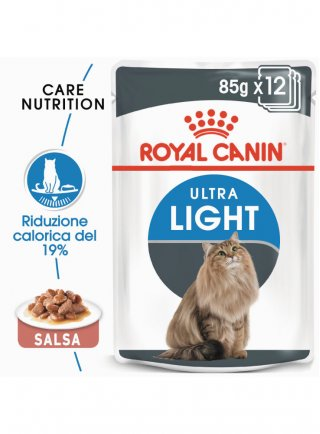 Ultra Light buste salsa gatto Royal Canin 12x85 gr