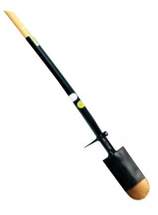 Vanga vivaista cm 16x32 con manico in legno di faggio FSC lunghezza cm 130 con piede di appoggio