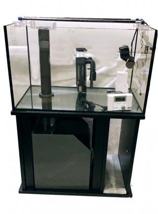 Vasca vitrea 84x50x51h acquario 200 litri extrachiaro + mobile nero