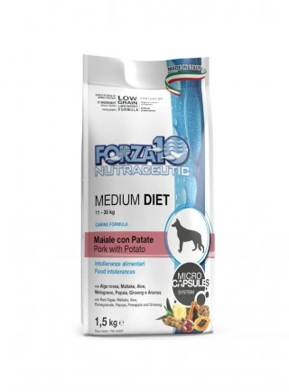 Forza 10 Medium Diet Low Grain Maiale con Patate kg 1,5 - 12