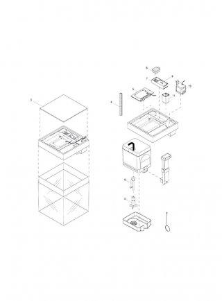 Askoll Kit cestelli con supporto termoriscaldatore particolari 7-9-11