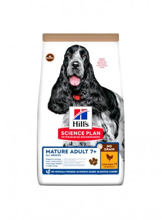 Hill's mature no grain cane pollo 14kg