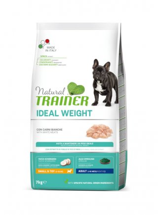 Trainer Ideal Weight Adult Small&Toy Carni bianche 7Kg