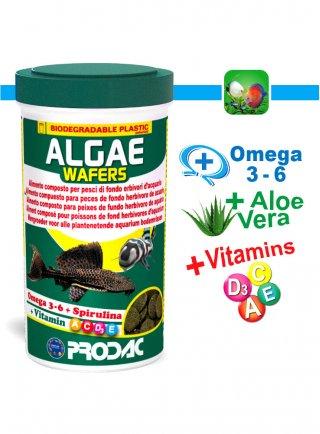 Prodac Algae Wafer/Algae wafer mini Alimento per Pesci Erbivori