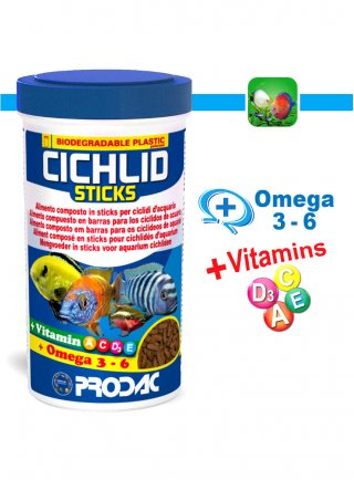 Prodac Cichlid Sticks Cibo in Sticks per Pesci