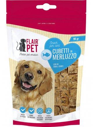 Flairpet Cubetti di Merluzzo Snack per cani 90g