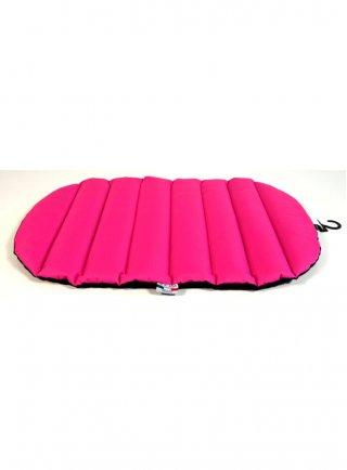 Cuscino Ovale, con appendino, Hot Pink