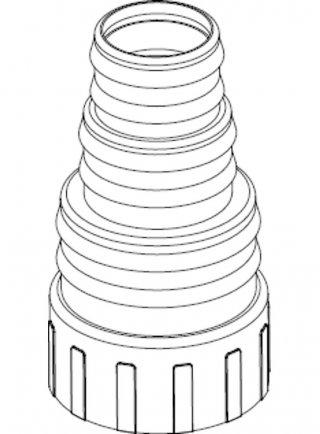 "Sicce Ricambio Eko Power Portagomma 1""1/2 GAS D.50/38/32+O-ring"