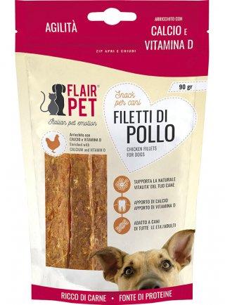 Snack per cuccioli FILETTI DI POLLO con CALCIO E VITAMINA D 90 GR