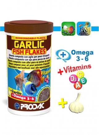 Prodac Garlic Fish Flakes scaglie con aglio per pesci acquario
