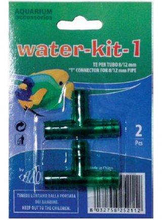Kit acqua 1- TE per tubo 8/12 pz 2
