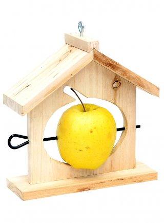 Mangiatoia in legno per mela cm 6x18xh20