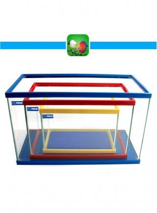 Prodac Set 3 acquari di vetro cornice colorata