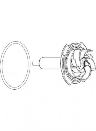Sicce Ricambio SYNCRA ADV 5.5 Rotore con alberino in ceramica + O'ring