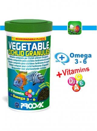 Prodac Vegetable Cichlid Granules Alimento per pesci d acquario 250 ml
