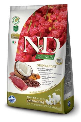 Farmina N&D Quinoa Adult Skin & Coat Anatra, cocco e Curcuma
