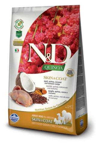 Farmina N&D Quinoa Adult Skin & Coat quaglia, cocco e Curcuma