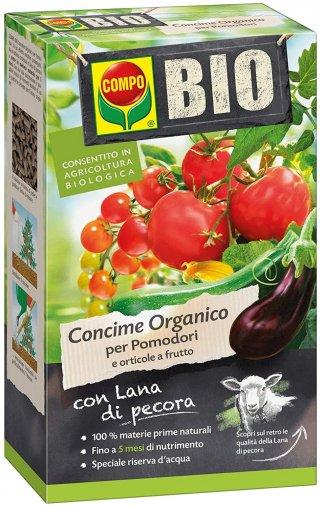COMPO BIO CONCIME LANA POMODORI E ORTICOLE GR.750