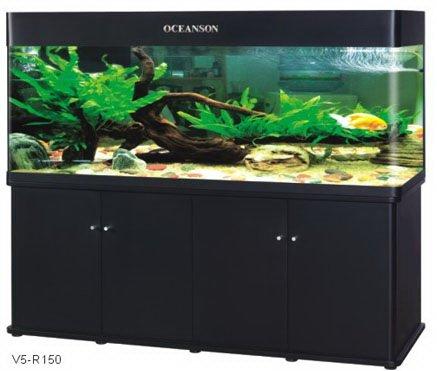 Acquario haquoss infinity 126 nero lt 550 aquarialand for Acquario a colonna