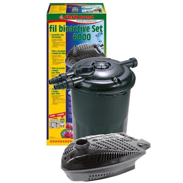 Pompa e filro pressurizzato sera bioactive pond set 6000 e for Pompa e filtro laghetto