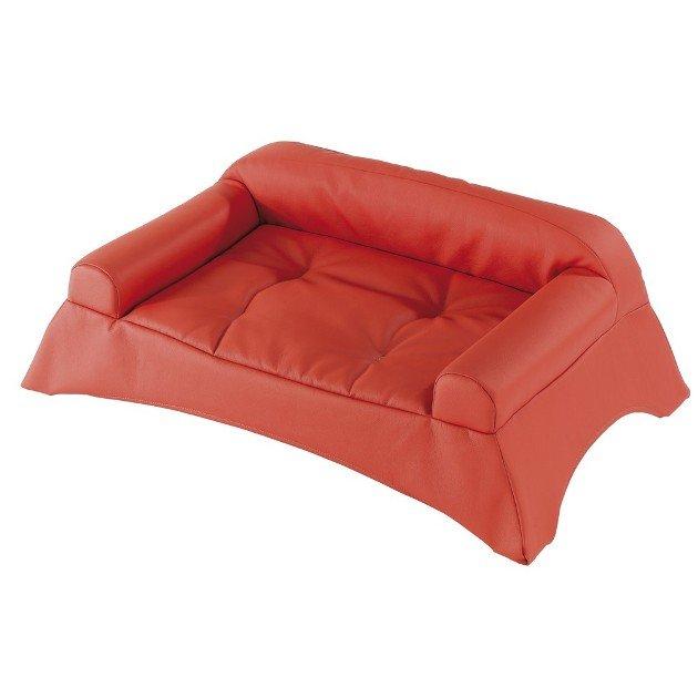 Divano per cani 60 rosso 74x48x26cm ferplast for Divano per cani