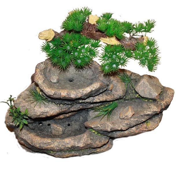 Decorazione per acquari e terrari con piante finte for Piante finte per acquario