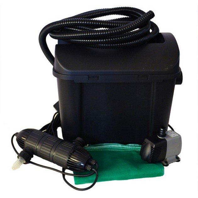 Filtro esterno per laghetto con sterilizzatore uvc heissner for Filtro per laghetto autocostruito