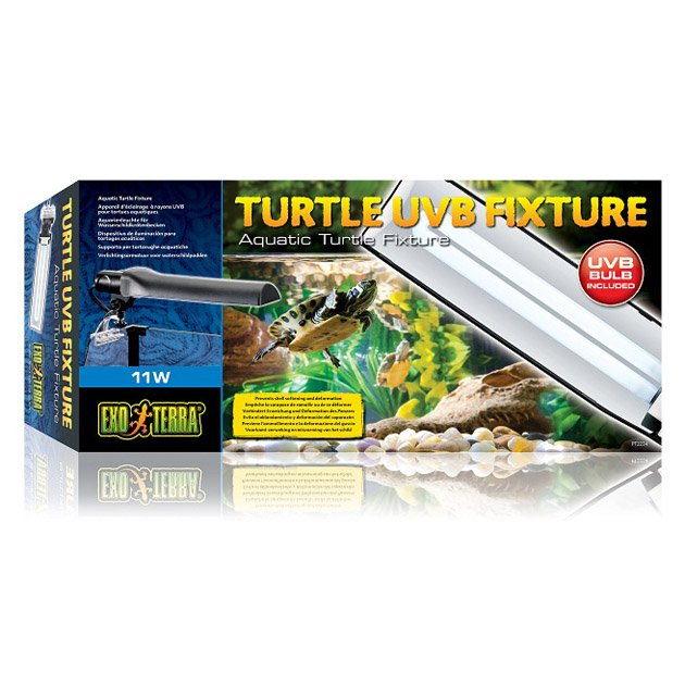 Exoterra lampada completa turtle uvb fixture pt 2234 askoll for Lampada raggi uvb per tartarughe