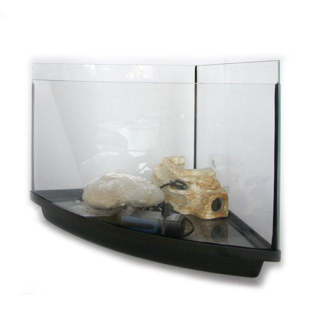 Acquario tartarughiera angolare in vetro curvo tortuga coral for Tartarughiera acqua
