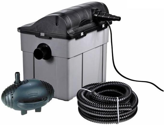 Vendita filtro laghetto pesci tartarughe kit con pompa e for Filtro x laghetto